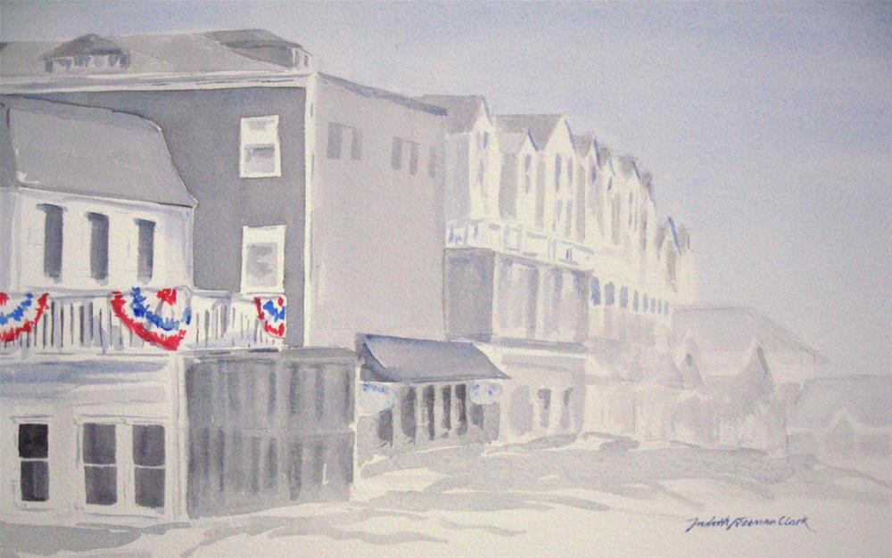 """Foggy Morning, Block Island"" original fine art by Judith Freeman Clark"