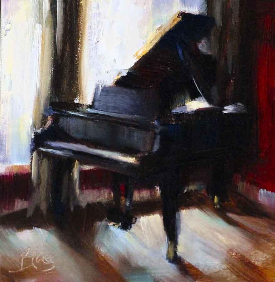 """Baby It's Grand"" original fine art by Pamela Blaies"