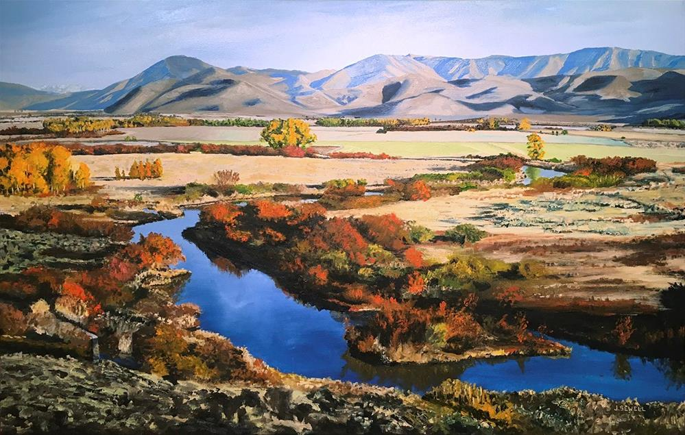 """Silvercreek October ~ Painting by Josh Sewell"" original fine art by Andy Sewell"