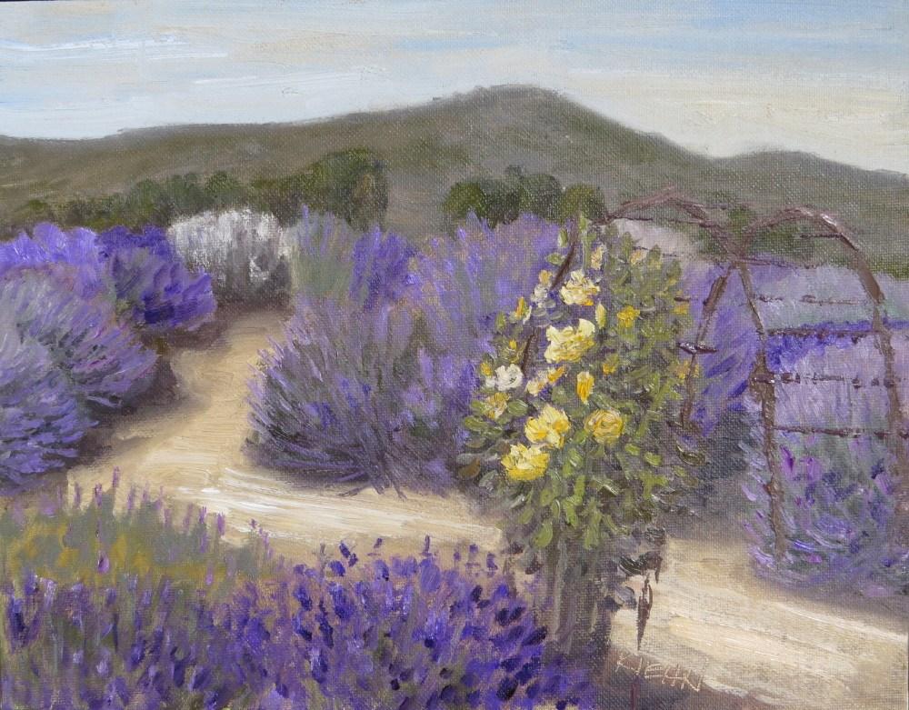 """Lavender Labryrinth"" original fine art by Richard Kiehn"