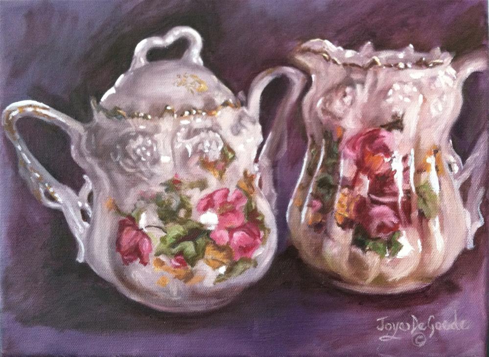 """""""Your Cup of Tea Nellie by Joye DeGoede"""" original fine art by Joye DeGoede"""