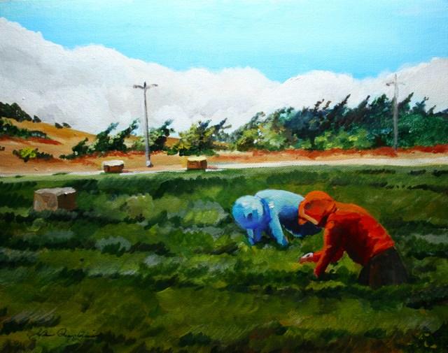"""Deep Sea of Green"" original fine art by JoAnne Perez Robinson"