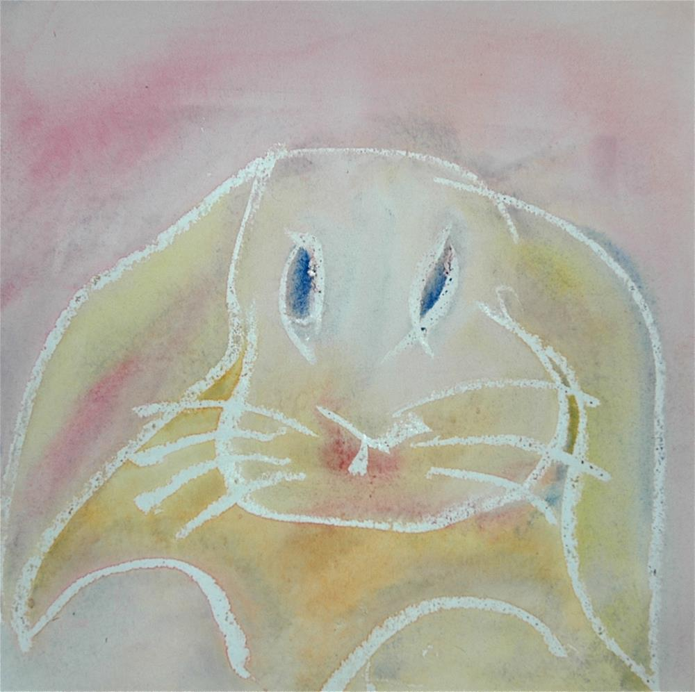 """Little bunny"" original fine art by Ulrike Schmidt"
