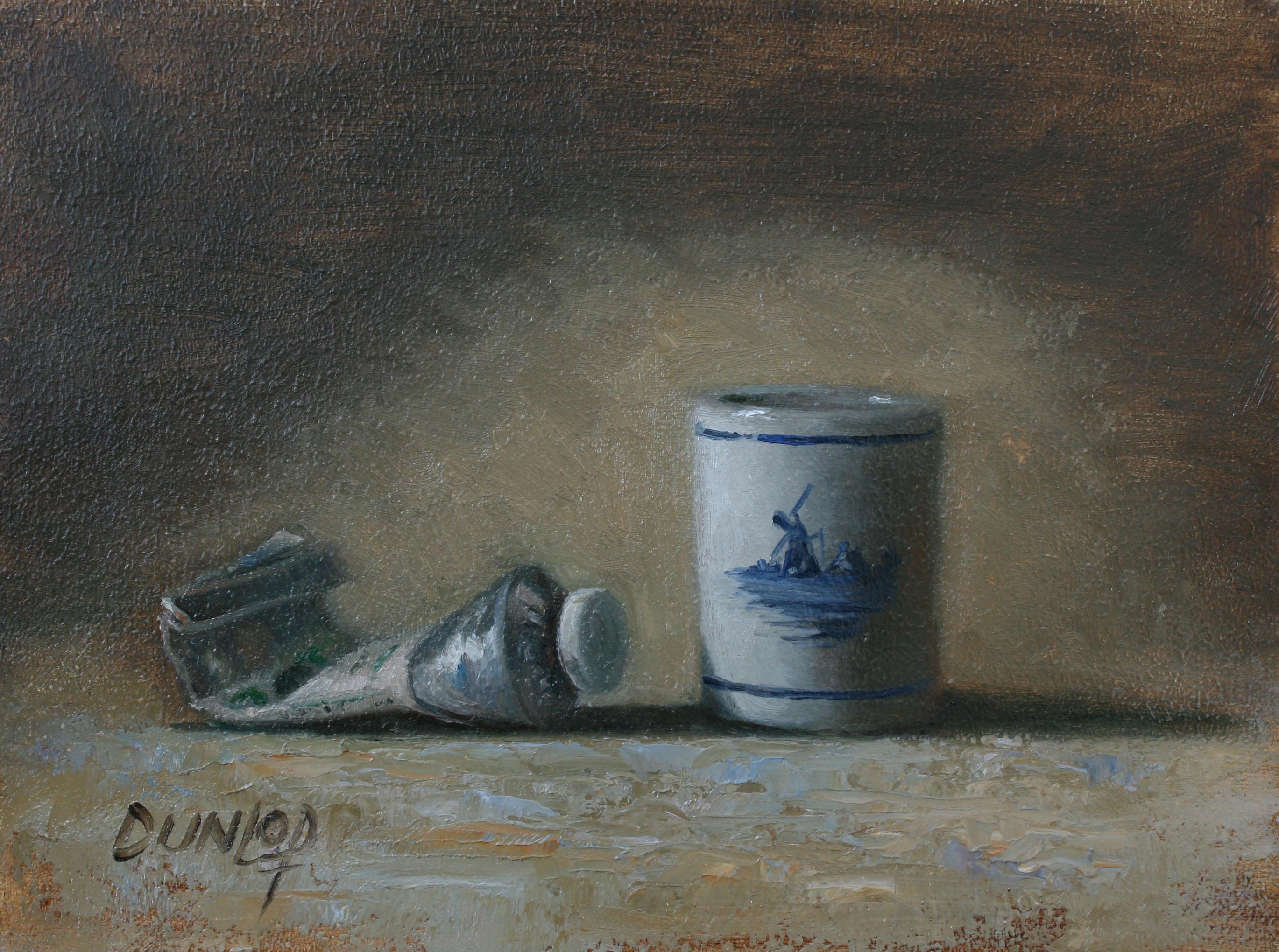 """""""Windmill Blue"""" original fine art by Bobbi Dunlop"""