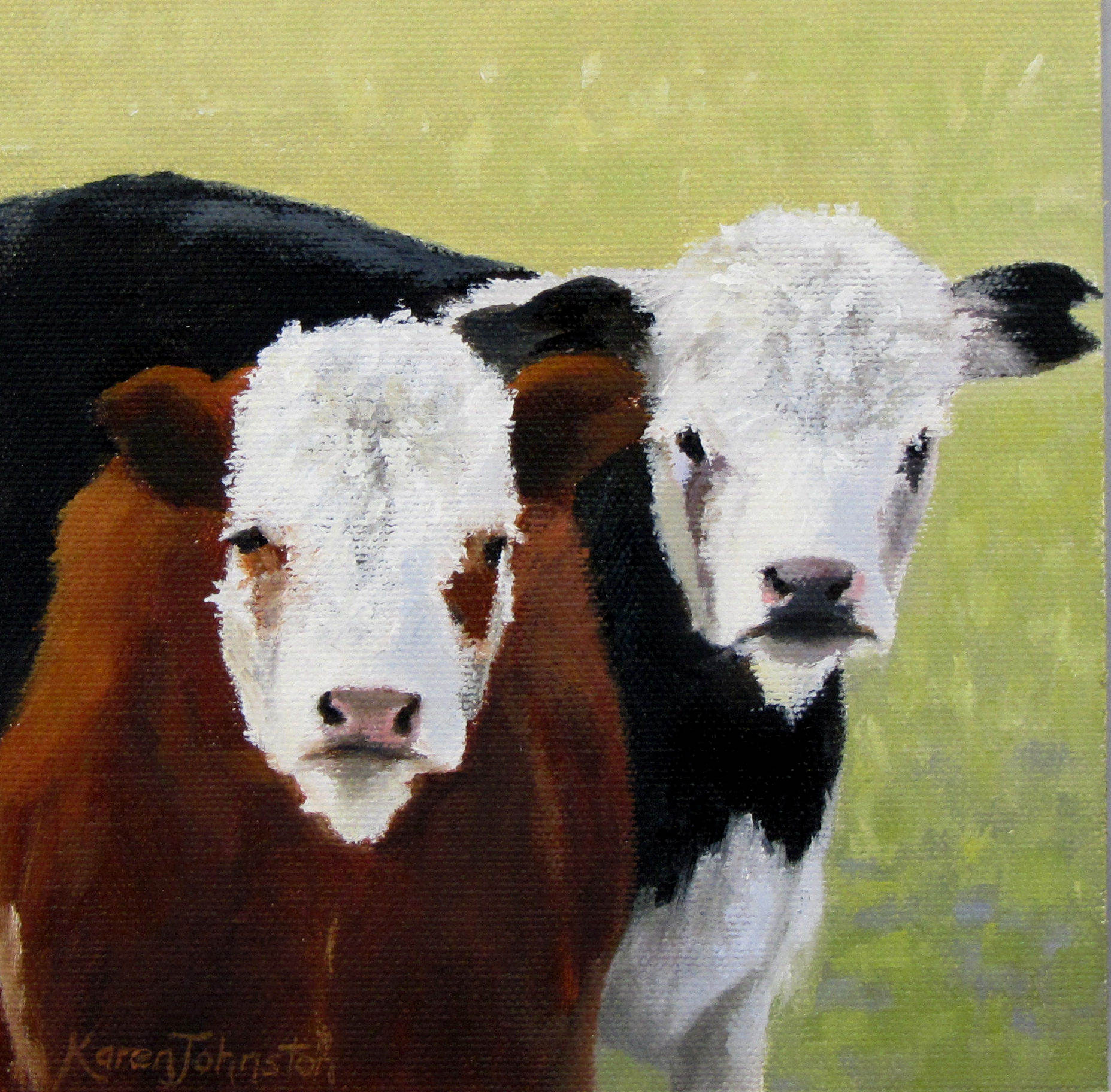 """The Two of Us"" original fine art by Karen Johnston"