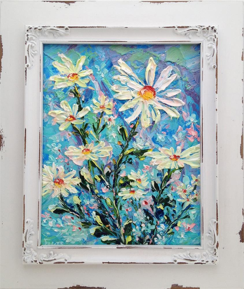 """Daisy Crazy"" original fine art by Ken Fraser"