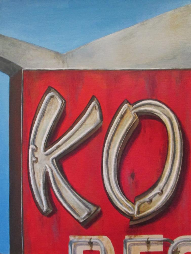 """KO"" original fine art by Debbie Shirley"