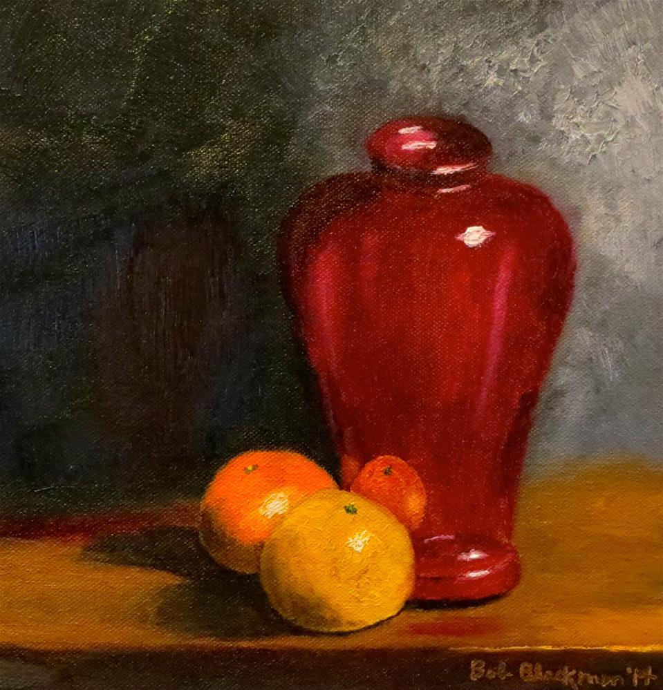 """Cranberry Glass"" original fine art by Bob Blackmon"