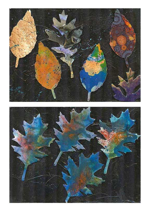 """Leaf Paintings Set"" original fine art by Kara Butler English"