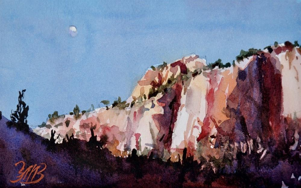 """Zion Moon Study"" original fine art by Brienne M Brown"