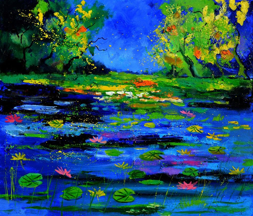 """Magic pond 675180"" original fine art by Pol Ledent"