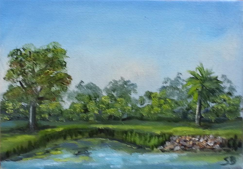 """Backyard View Plein Air"" original fine art by Sissy Blakslee"