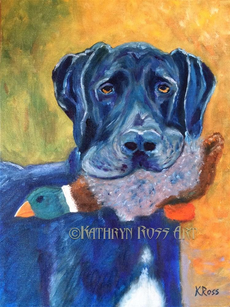 """It's mine!"" original fine art by Kathryn Ross"