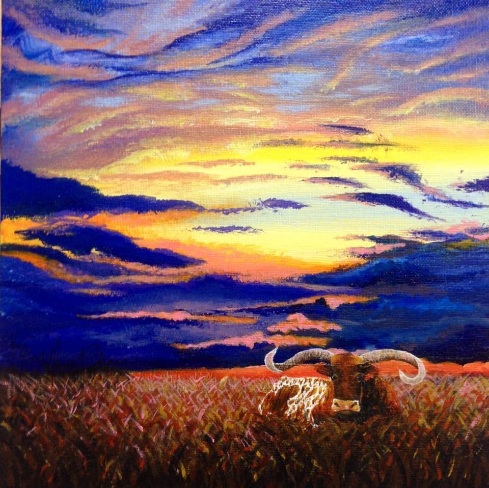 """Oklahoma Skies"" original fine art by Tiffany Conn"