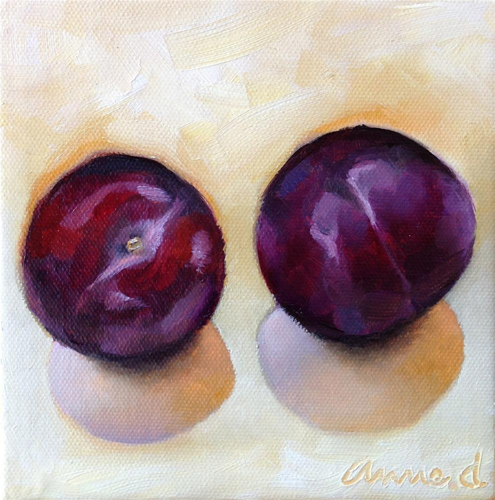 """A Couple of Plums"" original fine art by Anne Ducrot"
