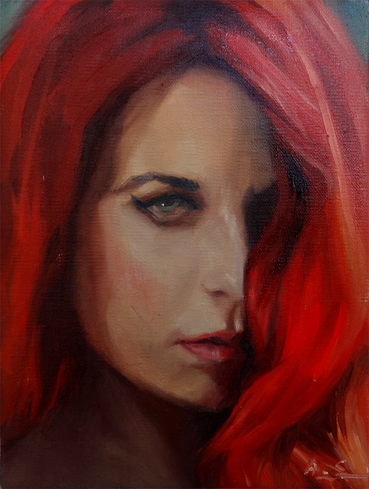 """Red"" original fine art by Arena Shawn"