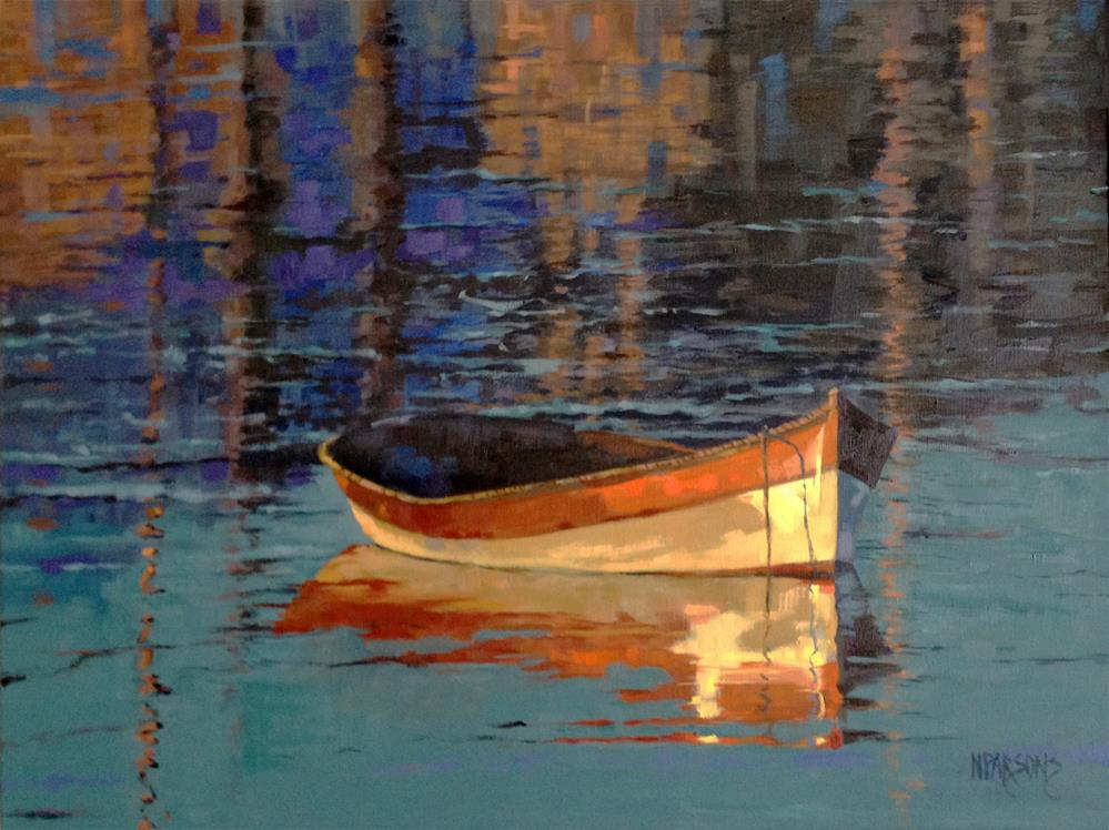 """Reflecting at Day's End"" original fine art by Nancy Parsons"