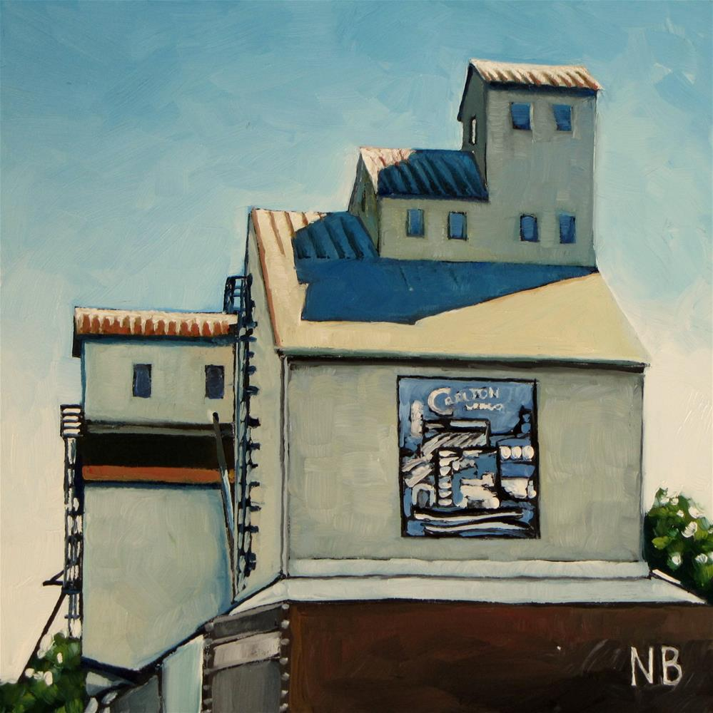 """Carlton Elevator"" original fine art by Nora Bergman"