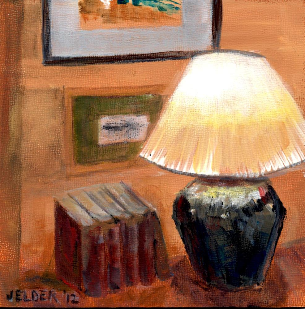 """Book Light"" original fine art by Judith Elder"
