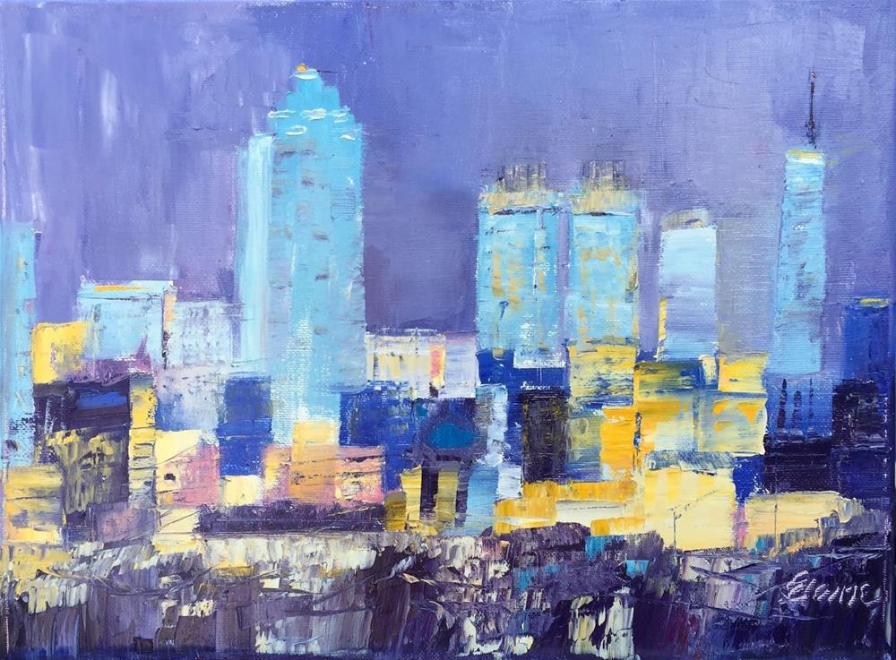 """Atlanta Blues"" original fine art by Elaine Ford"
