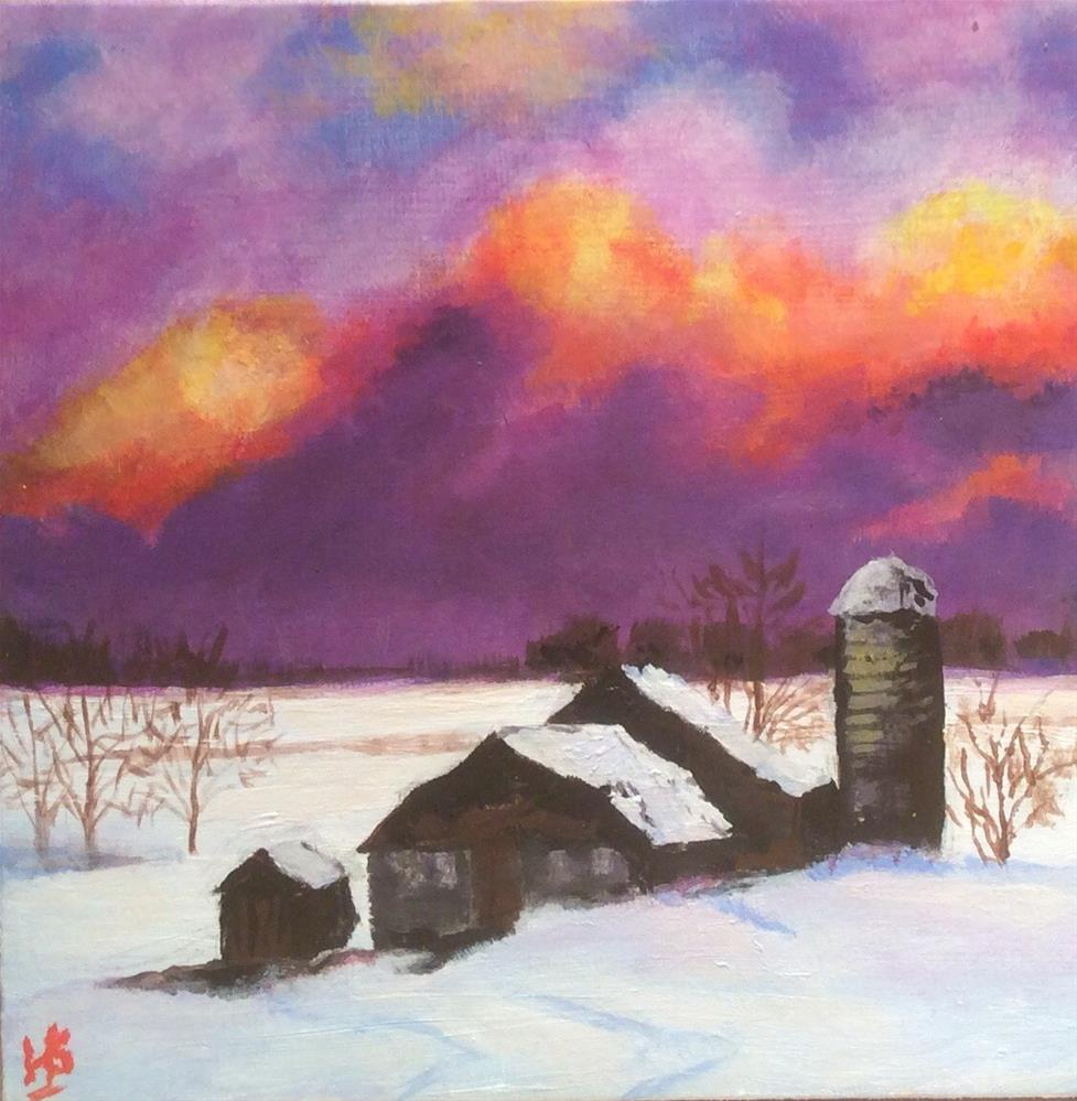 """Winters Day"" original fine art by wendy black"