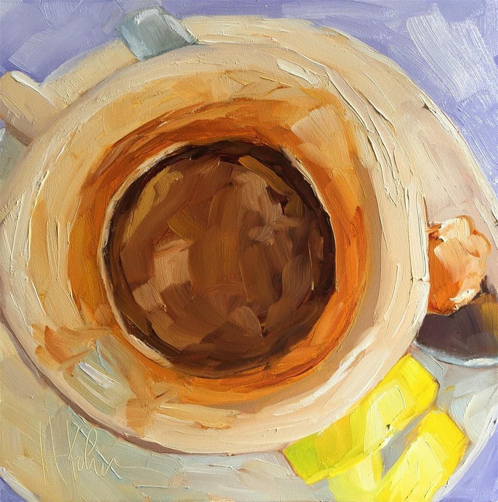 """The Perfect Espresso"" original fine art by Hallie Kohn"