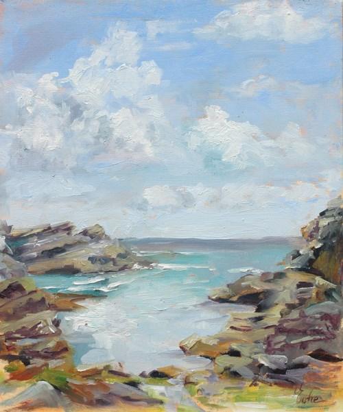 """Belle île en mer"" original fine art by Evelyne Heimburger Evhe"