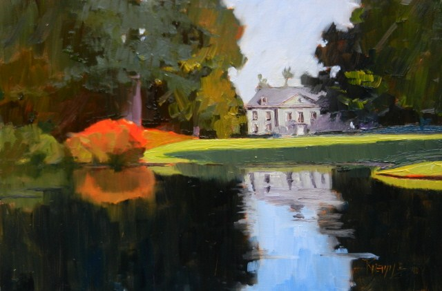 """The Bloedel Mansion plein air, oil, landscape painting by Robin Weiss."" original fine art by Robin Weiss"