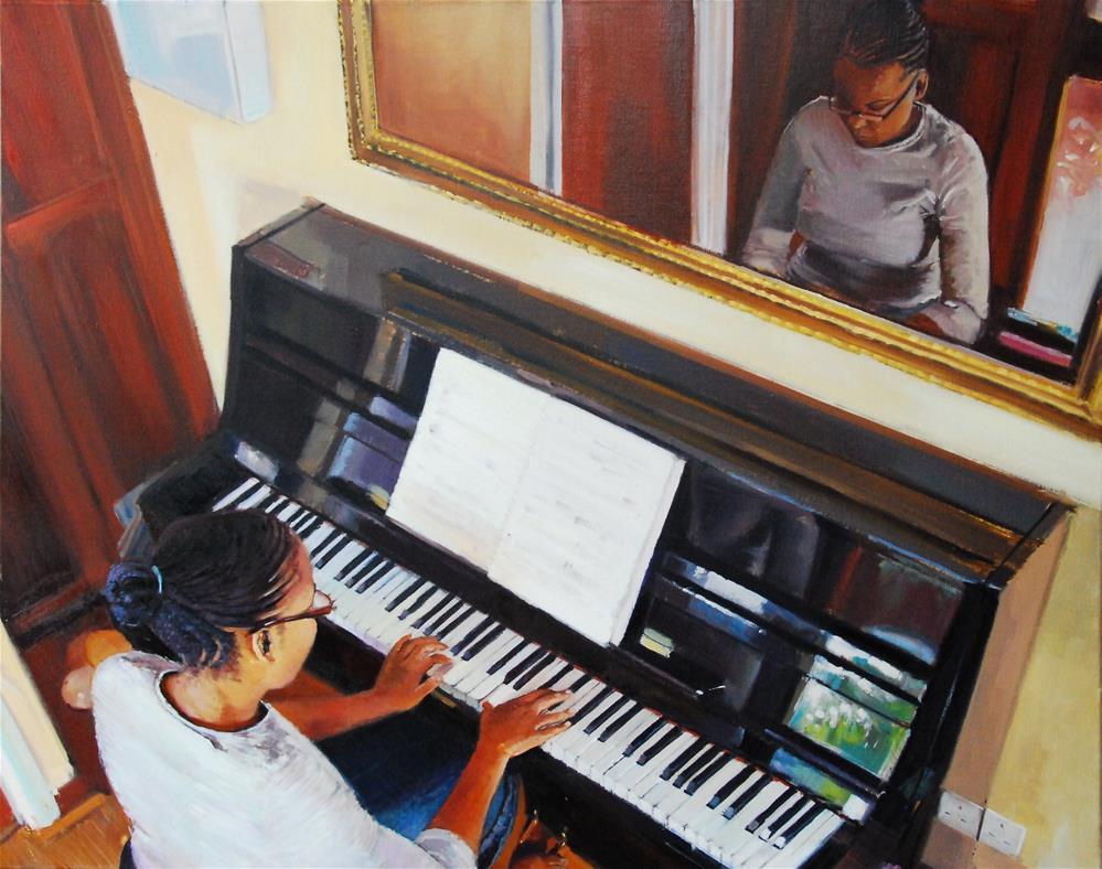 """Tones and Reflections"" original fine art by Adebanji Alade"