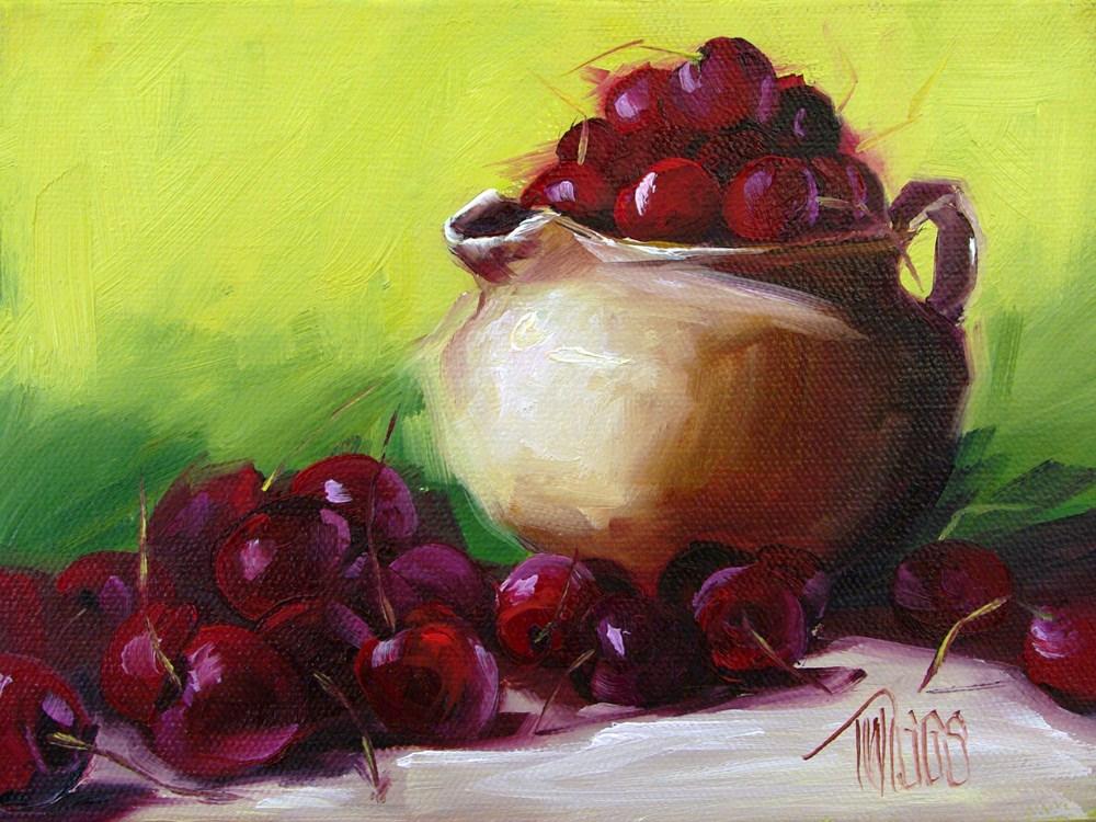 """Cherry Chaos"" original fine art by Lori Twiggs"