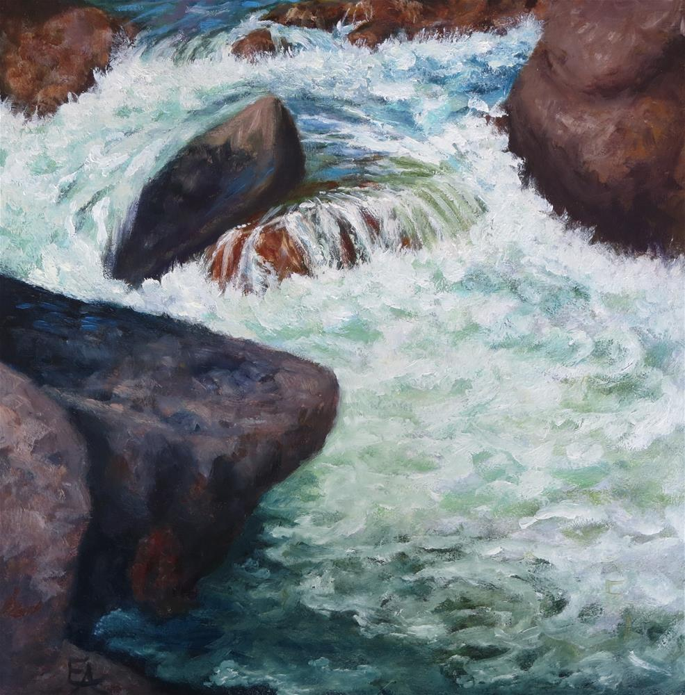"""Colorado River"" original fine art by Elizabeth Elgin"