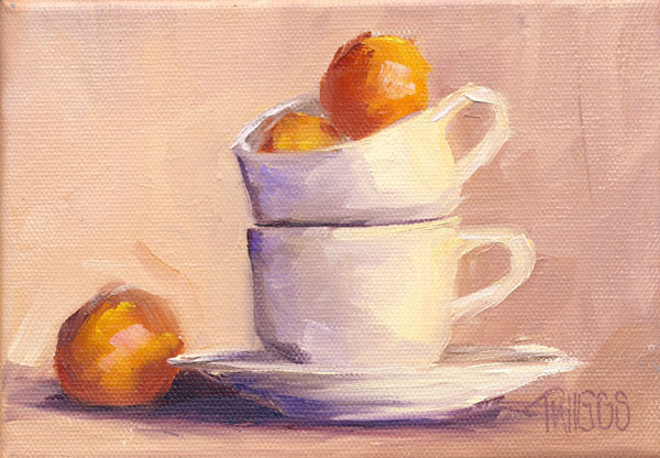 """Clementines 3"" original fine art by Lori Twiggs"