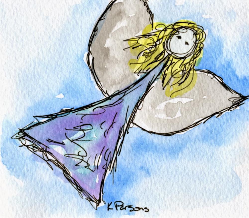 """Angel"" original fine art by Kali Parsons"