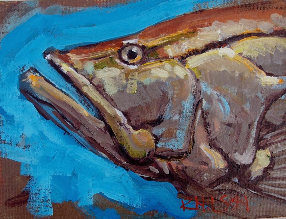 """Snook"" original fine art by Rick Nilson"
