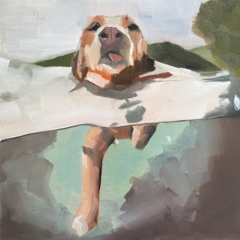 """""""311 Doggy Paddle"""" original fine art by Jenny Doh"""
