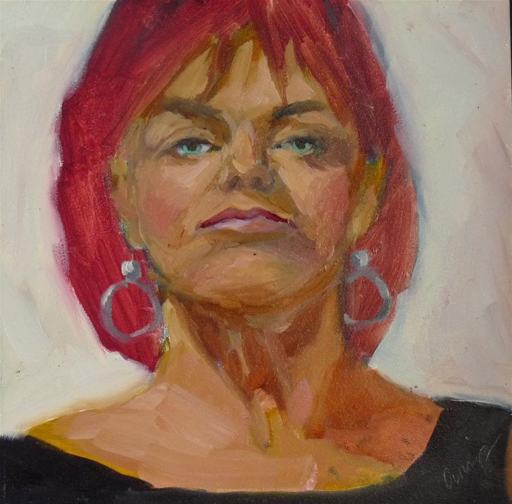 """Attitude"" original fine art by Sharman Owings"