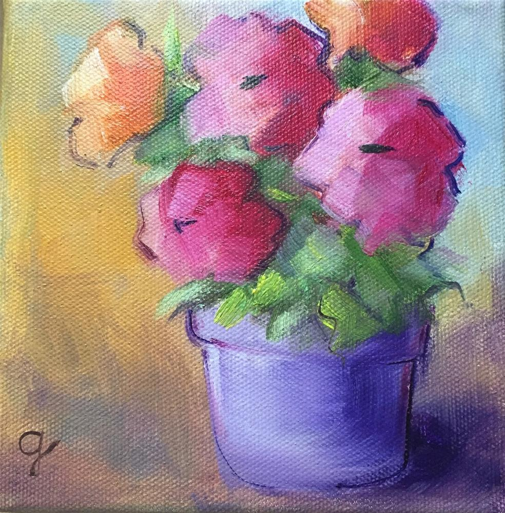 """Purple Pot"" original fine art by Gayle Lambeth"
