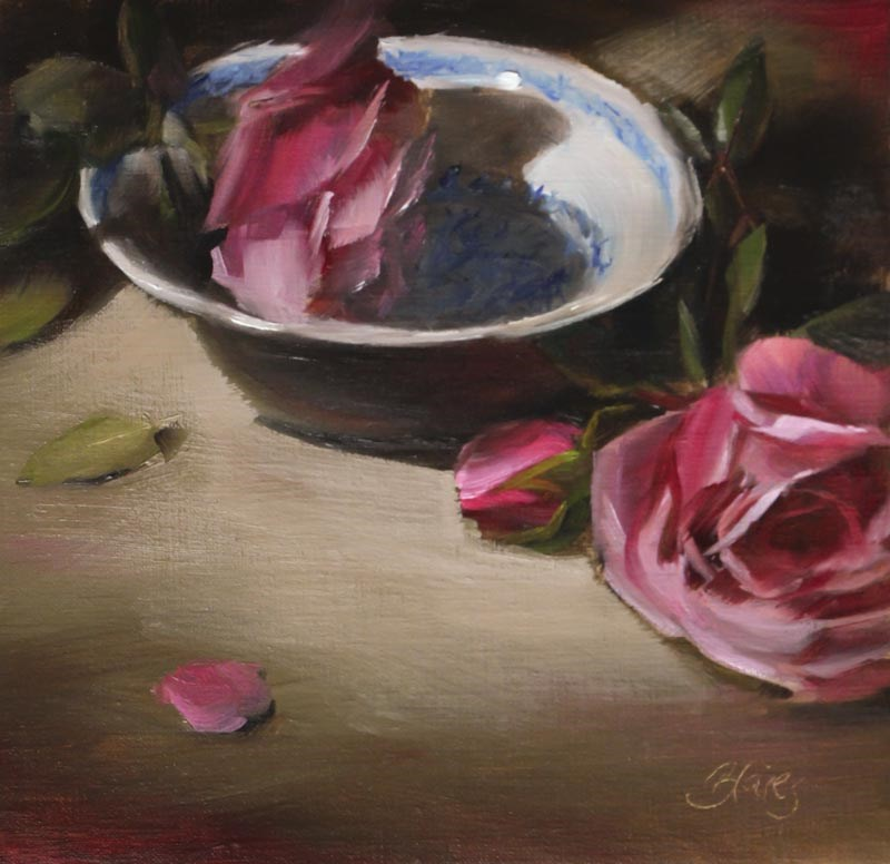 """Antique Roses"" original fine art by Pamela Blaies"