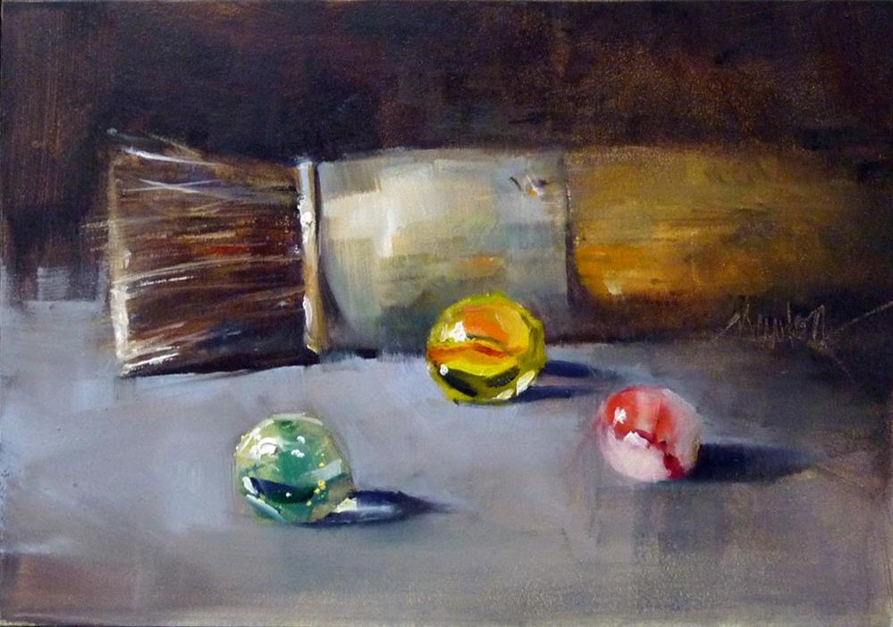 """Brush and Marbles"" original fine art by Barbara Benedetti Newton"