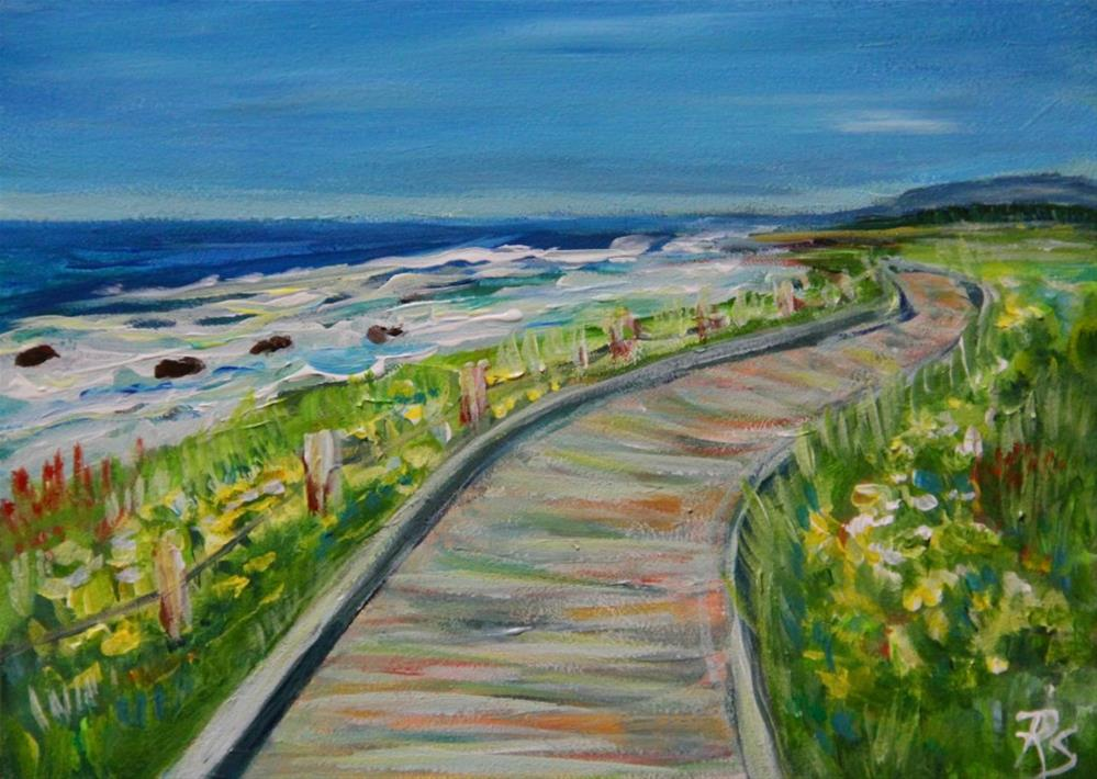 """Moonstone Beach"" original fine art by Roberta Schmidt"