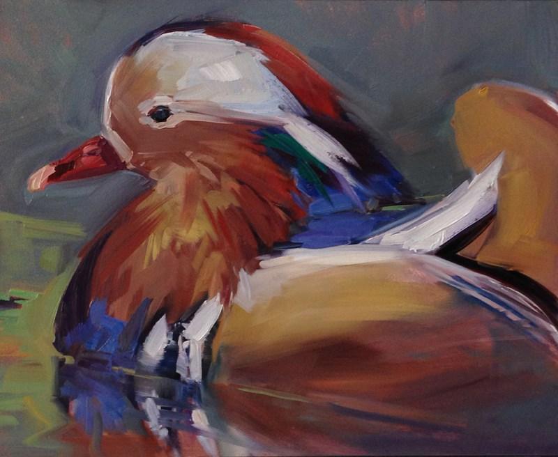 """Duck A La Mandarin"" original fine art by Patti McNutt"