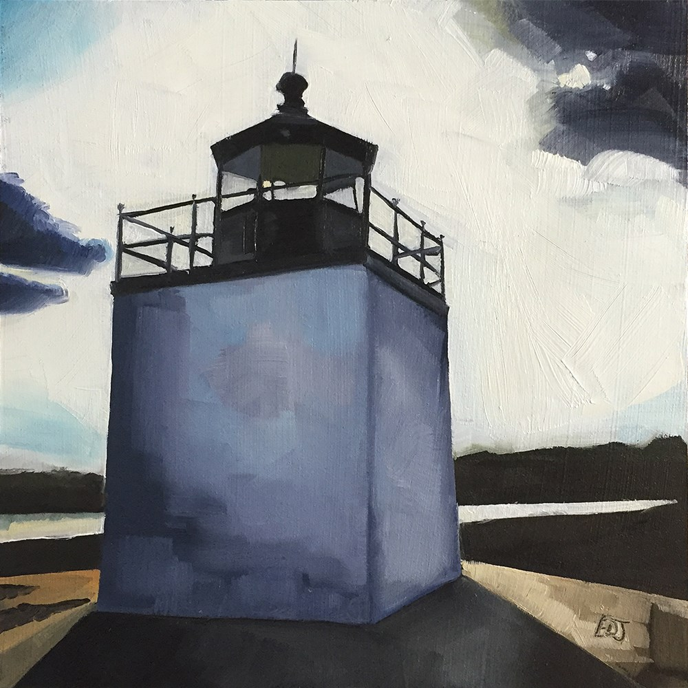 """Salem Lighthouse"" original fine art by Elizabeth Dawn Johnston"