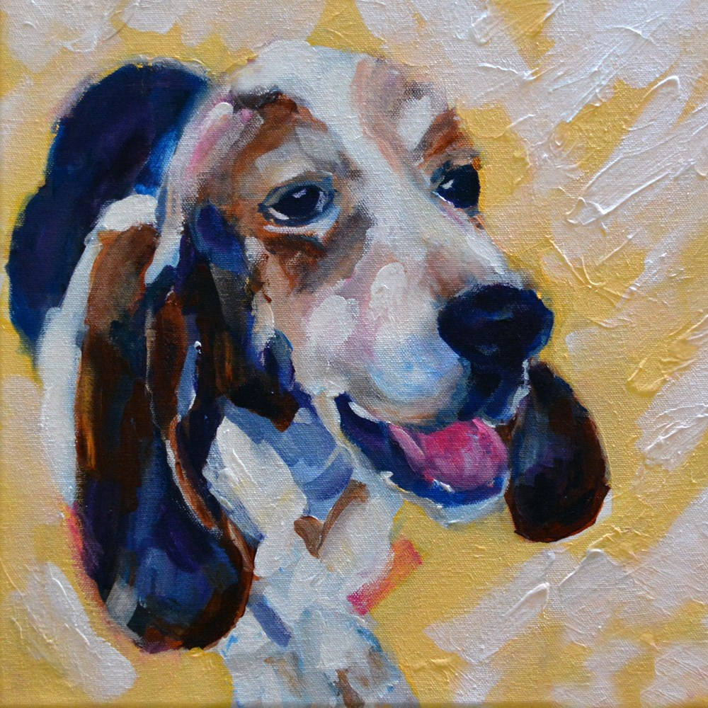 """Buster"" original fine art by Pamela Gatens"