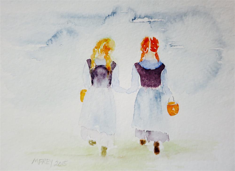 """Trick Or Treat 079"" original fine art by Michelina Frey"