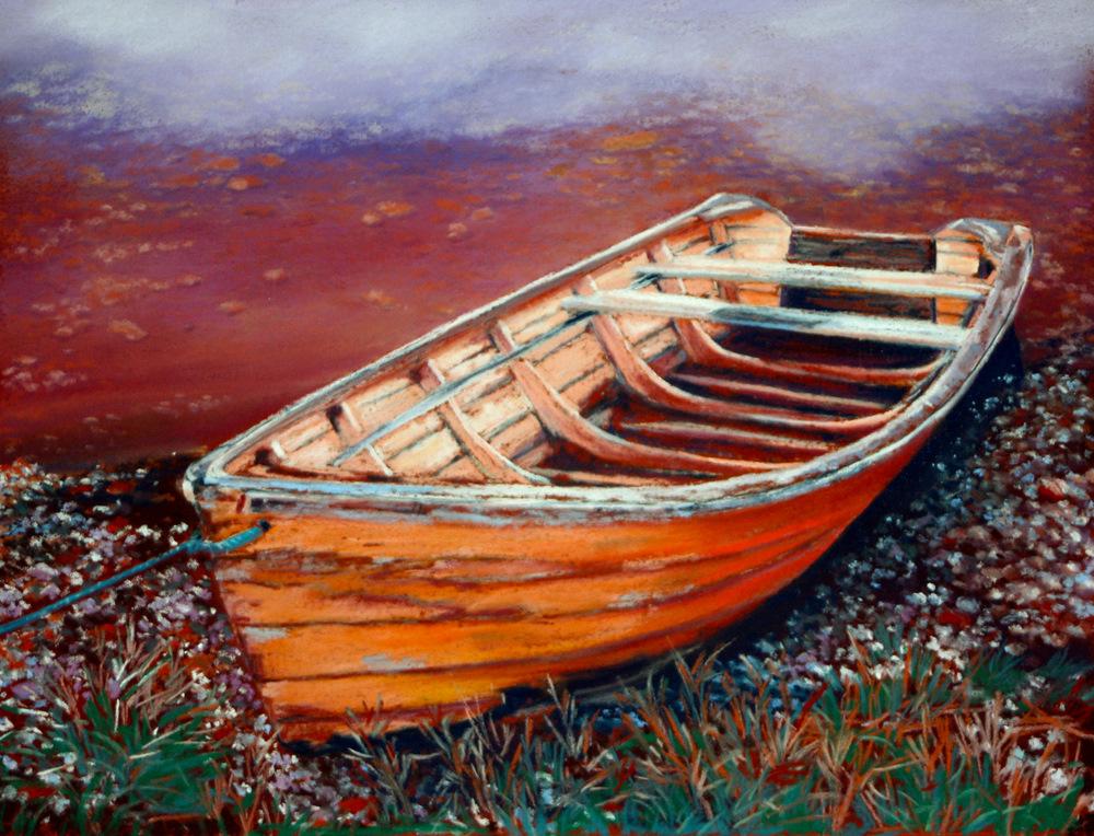"""""""Aqua Line"""" original fine art by Jill Bates"""