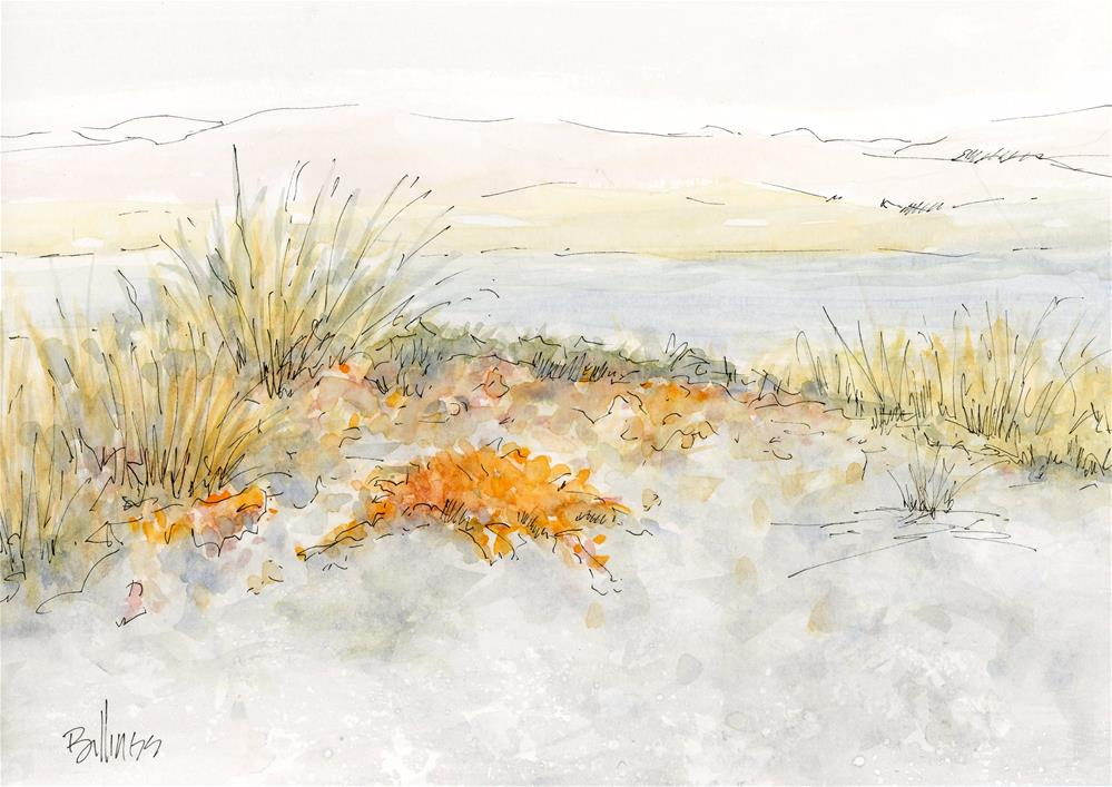 """Doran Beach Sketch"" original fine art by Susanne Billings"