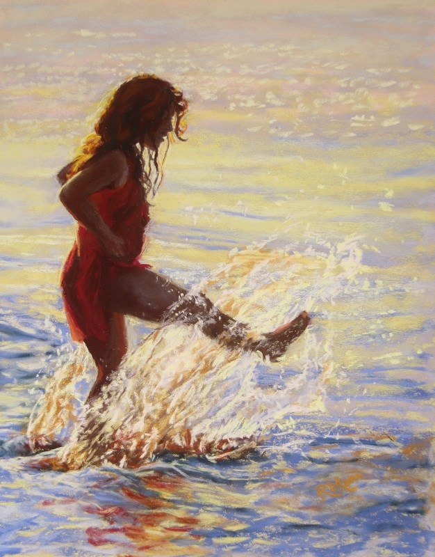 """Splash!"" original fine art by Ruth Mann"