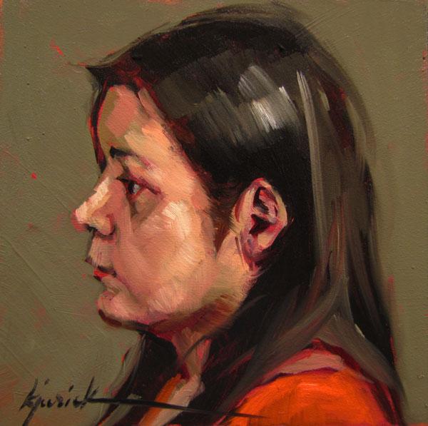 """100 Faces, No. 50"" original fine art by Karin Jurick"