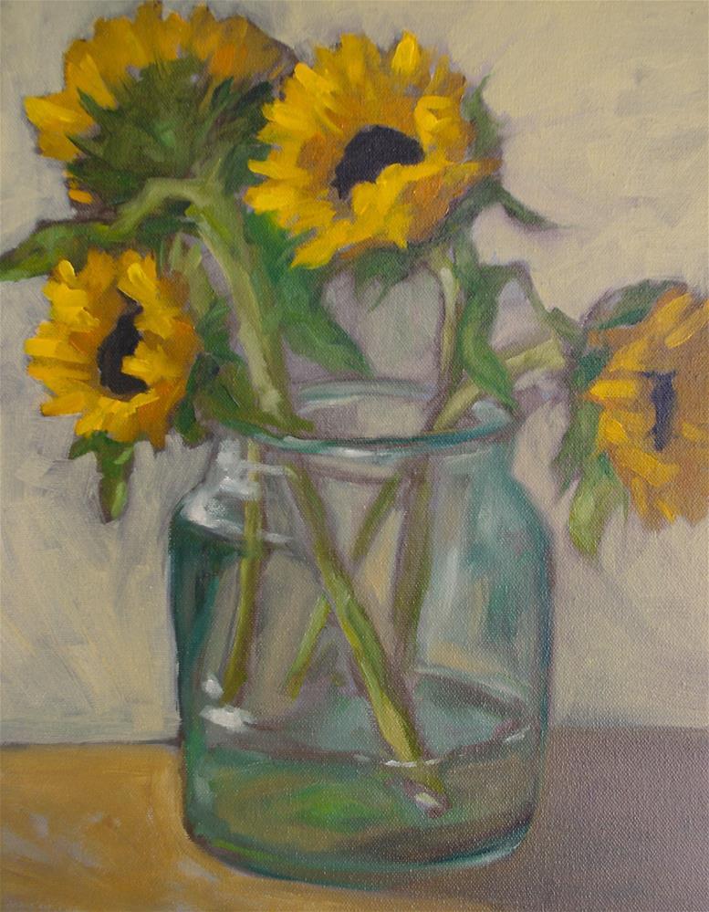 """sunflowers"" original fine art by Theresa Heidig Rooney"
