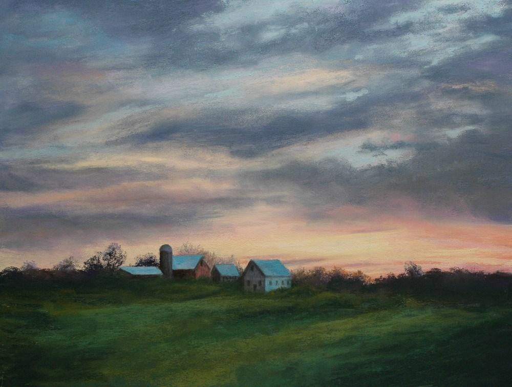 """Sunset"" original fine art by Susan Klabak"